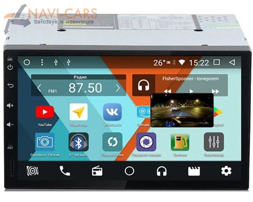 2 DIN Parafar на Android 8.1 (PF002K)