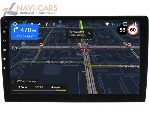 2 DIN OEM GT10 2/16 на Android 8.1 (10 дюймов)