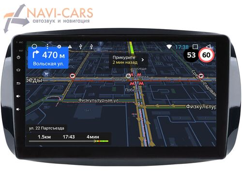 Smart Fortwo III, Forfour II 2014-2021 LeTrun 3151-9-019 на Android 9 (4G DSP 2/32 IPS)