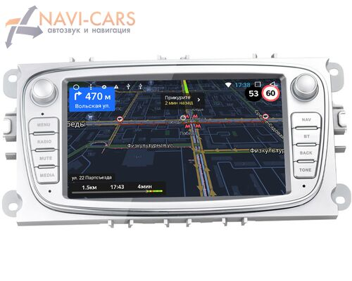 Ford C-MAX I 2007-2010 OEM RS003S на Android 8.1 (серая)