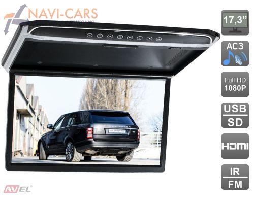 """AVIS AVS1707MPP (черный) 17,3"""" со встроенным Full HD медиаплеером"""