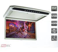 "AVIS AVS1707MPP (серый) 17,3"" со встроенным Full HD медиаплеером"