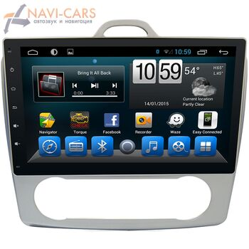 Штатная магнитола CarMedia KR-1060-T8 Ford Focus II 2005-2011 с климатом на Android 9.0