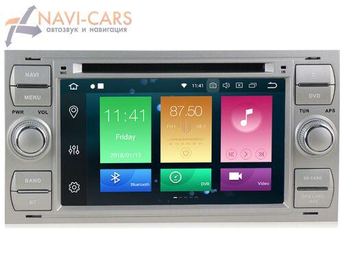 CarMedia MKD-F745B-P30-8 Ford Focus, C-Max, S-Max, Fiesta, Fusion, Mondeo, Transit, Kuga (серебро) на Android 9.0