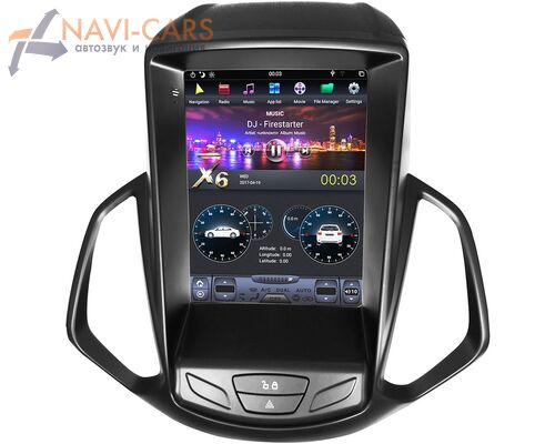 CarMedia ZF-1166-DSP для Ford Ecosport 2013-2017 Tesla Style на Android 9.0