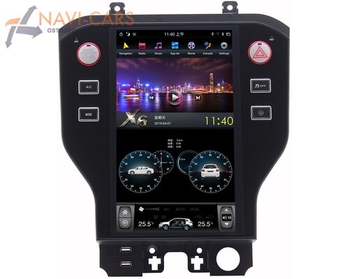 CarMedia ZF-1103-DSP для Ford Mustang VI 2014-2020 Tesla Style (стиль тесла) на Android 9.0