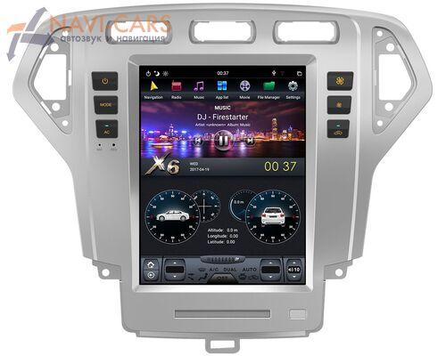 CarMedia ZF-1119-DSP для Ford Modeo IV 2007-2010 Tesla Style (стиль тесла) на Android 9.0