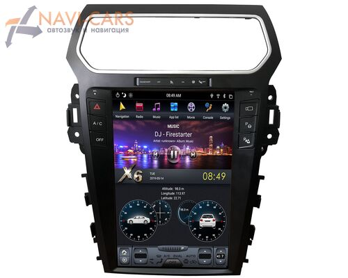CarMedia ZF-1263-S2-DSP для Ford Explorer V 2011-2019 Tesla Style (стиль тесла) (поддержка SYNC 2) на Android 9.0