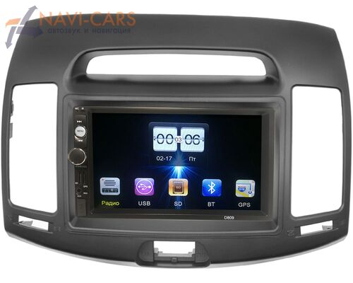 Hyundai Elantra IV (HD) 2006-2011 (серая) FarCar (D809-1-RP-11-065-235) без Navi