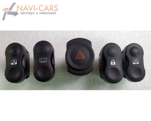 Комплект кнопок для рамки Lada Largus / Лада Ларгус (кнопки от Renault Logan / Sandero)