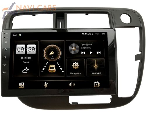 Honda Civic 7 (VII) 2000-2005 (без климата) LeTrun 3792-9-226 на Android 10 (4/64, DSP, QLed) С оптическим выходом (правый руль)