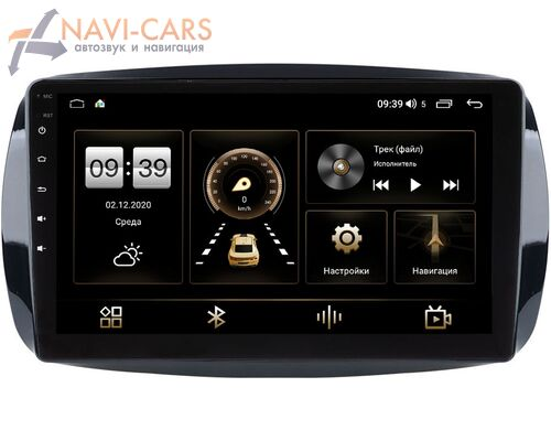 Smart Fortwo III, Forfour II 2014-2021 LeTrun 3792-9-019 на Android 10 (4/64, DSP, QLed) С оптическим выходом