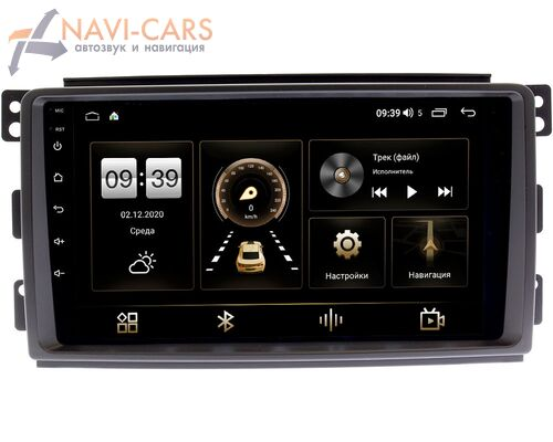 Smart Forfour 2004-2006, Fortwo II 2007-2011 LeTrun 3792-9289 на Android 10 (4/64, DSP, QLed) С оптическим выходом