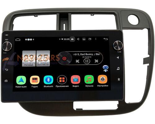 Honda Civic 7 (VII) 2000-2005 (без климата) LeTrun BPX409-9-226 на Android 10 (4/32, DSP, IPS, с голосовым ассистентом, с крутилками) (правый руль)