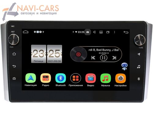 SsangYong Rexton II 2007-2012 LeTrun BPX409-9-SY019N на Android 10 (4/32, DSP, IPS, с голосовым ассистентом, с крутилками)