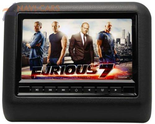 """Навесной монитор на подголовник 7"""" LeTrun 1295 DVD-SD-USB (черный)"""