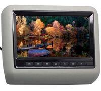 "Навесной монитор на подголовник 7"" LeTrun 1293 DVD-SD-USB (серый)"