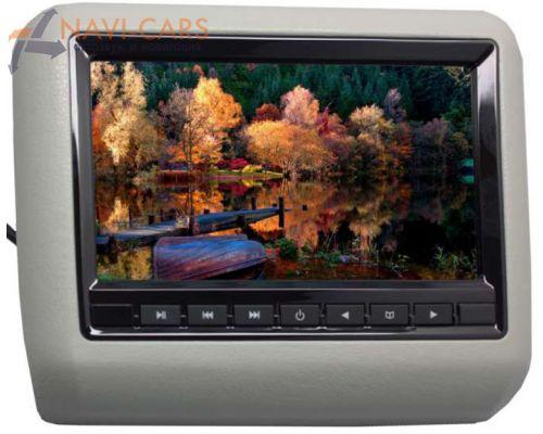 """Навесной монитор на подголовник 7"""" LeTrun 1293 DVD-SD-USB (серый)"""