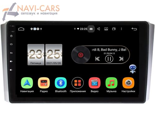 SsangYong Rexton II 2007-2012 LeTrun PX409-9-SY019N на Android 10 (4/32, DSP, IPS, с голосовым ассистентом)