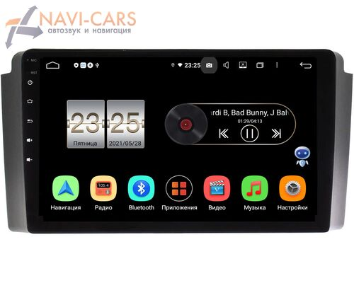 SsangYong Rexton 2001-2007 LeTrun PX409-SY020N на Android 10 (4/32, DSP, IPS, с голосовым ассистентом)