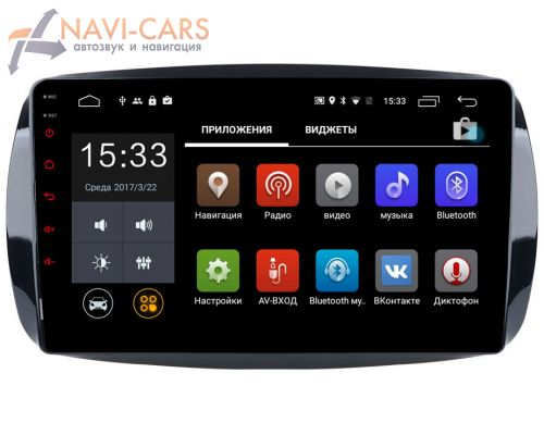 Parafar для Smart Fortwo III, Forfour II 2014-2019 на Android 6.0.1 (PF214Lite)
