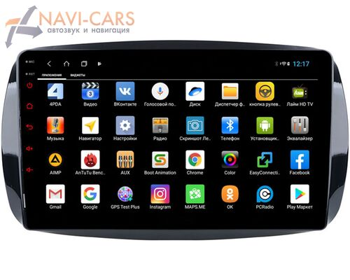 Parafar для Smart Fortwo III 2014-2021, Forfour II 2014-2021 на Android 9 (PF214QLedXHD)