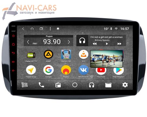 Parafar для Smart Fortwo III 2014-2019, Forfour II 2014-2019 на Android 8.1.0 (PF214K)