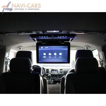 Установка автомобильного монитора на потолок