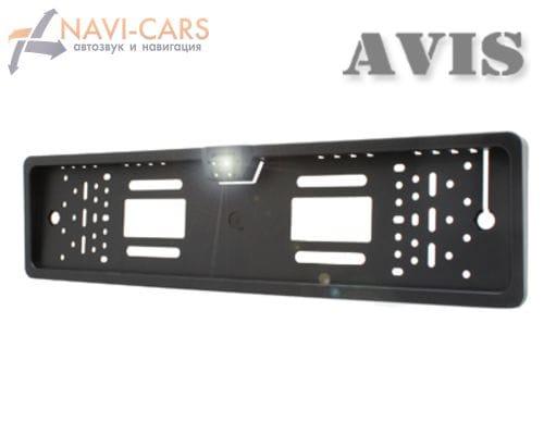 Камера заднего вида в рамке номерного знака (CCD) AVIS AVS388CPR (с LED подсветкой)