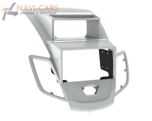 Рамка 1/2din Intro RFO-N23 для Ford Fiesta 09+ silver (со штатным дисплеем)