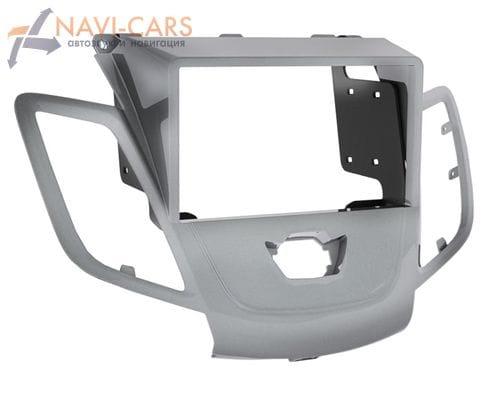 Рамка 1/2din Intro RFO-N21 для Ford Fiesta 09+ silver (без штатного дисплея)