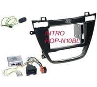 Рамка 2din Intro ROP-N10BL black для Opel Insignia 2008+ (крепеж+адаптер руля)