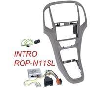 Рамка 2din Intro ROP-N11SL gray для Opel Astra-J 2009+ (крепеж+адаптер руля)
