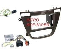 Рамка 2din Intro ROP-N10BR brown для Opel Insignia 2008+ (крепеж+адаптер руля)