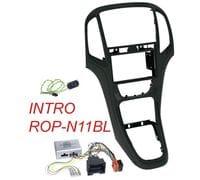 Рамка 2din Intro ROP-N11BL black для Opel Astra-J 2009+ (крепеж+адаптер руля)
