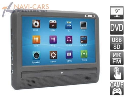 """Навесной монитор на подголовник с диагональю 9"""" и встроенным DVD плеером AVIS AVS0933T"""
