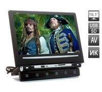Навесной монитор на подголовник с диагональю 10.1 дюймов и встроенным медиаплеером AVIS AVS1008MPP