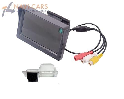 Монитор 4.3 дюйма с камерой заднего вида Chevrolet Aveo 2, Cruze 12+ хэтчбек, Trailblazer 13+ | Opel Mokka, Astra J