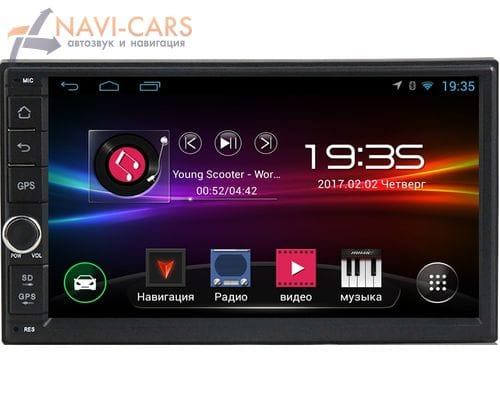 Магнитола 2 din Android 4.4 LeTrun 1409