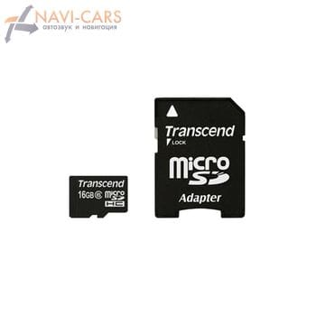 Карта памяти Transcend microSD 16gb